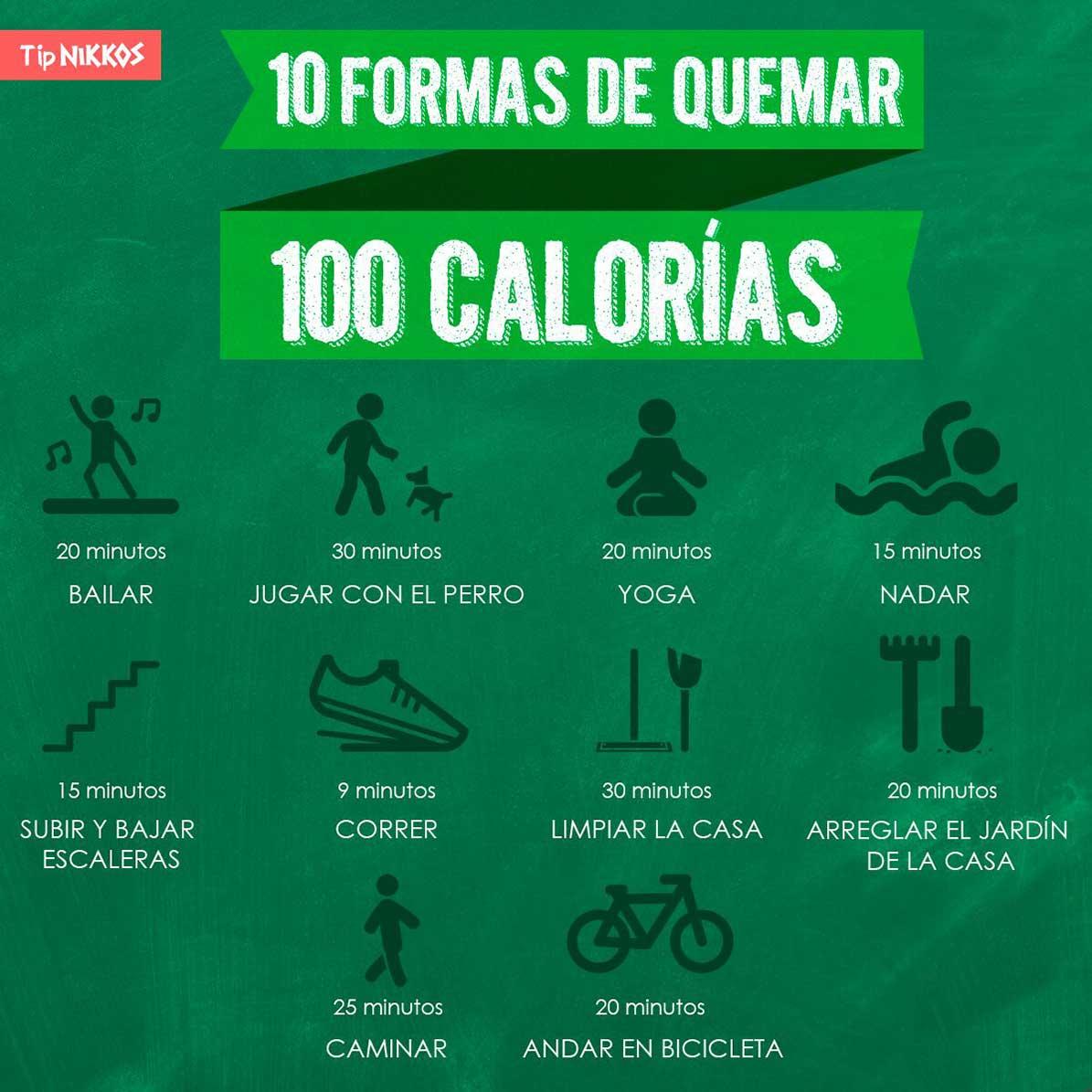 Diez formas de quemar calorias