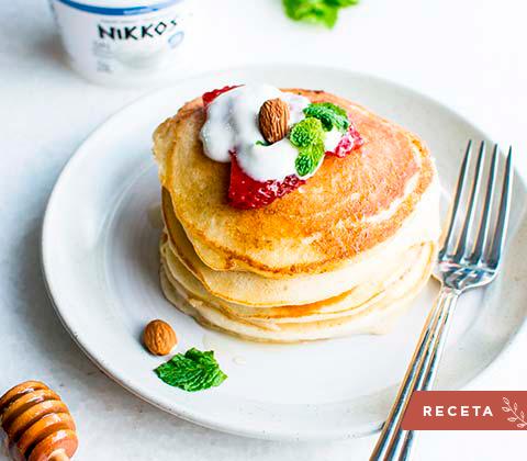 Receta pancake con banano