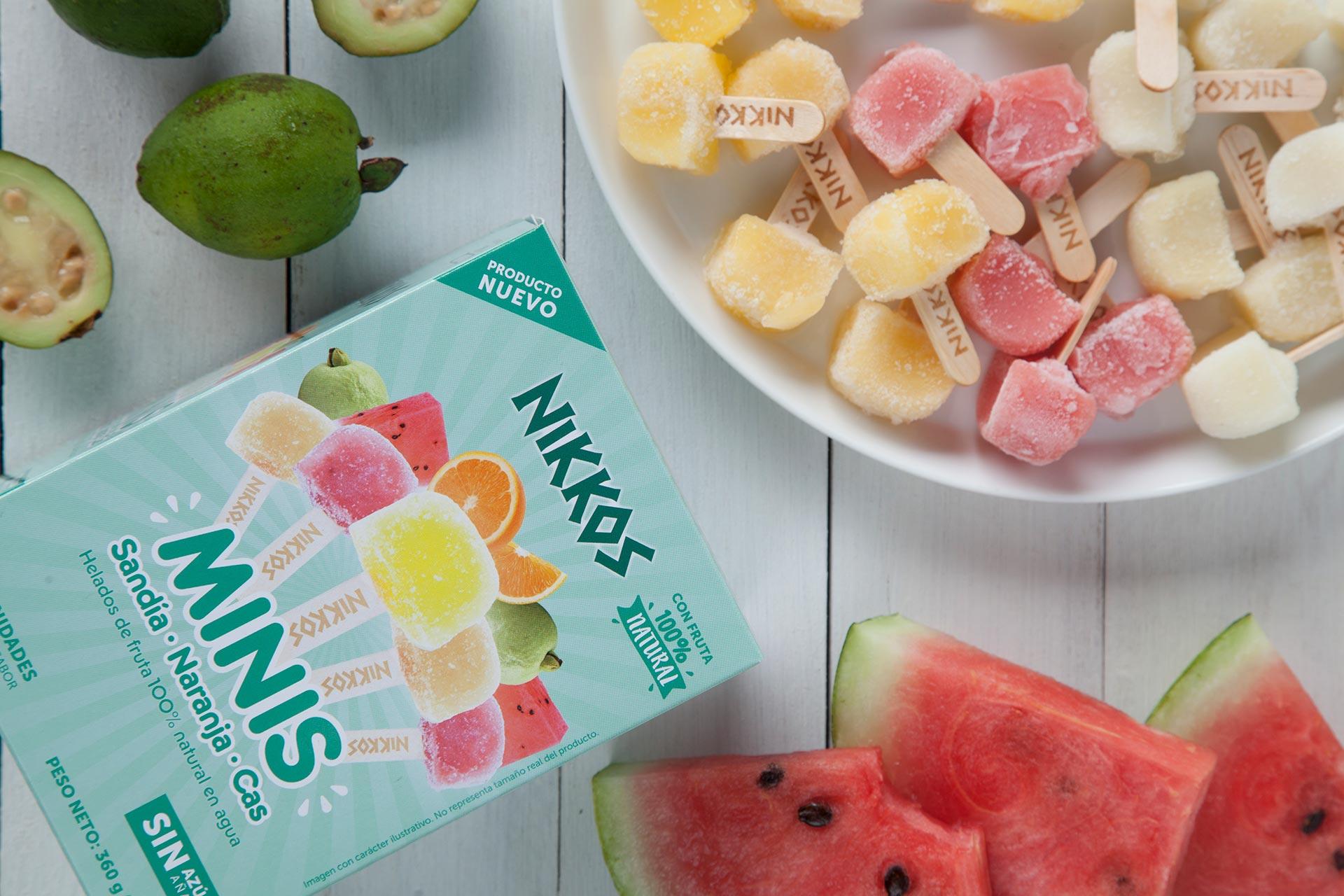Helados de fruta 100% naturales